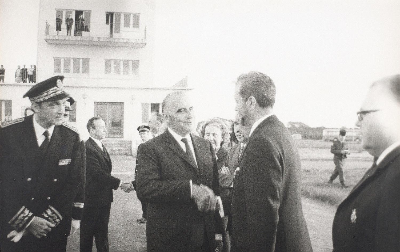 Georges Pompidou lors d'une visite officielle à Brest, en 1971. Musée de Bretagne: 986.0028.44538.