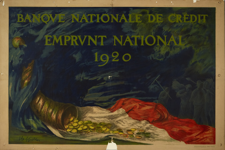 Affiche pour l'emprunt national 1920. Musée de Bretagne: 921.0008.1.