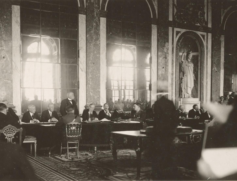 Georges Clemenceau lors des négociations de Versailles. National Archives at College Park: 111-SC-61003.