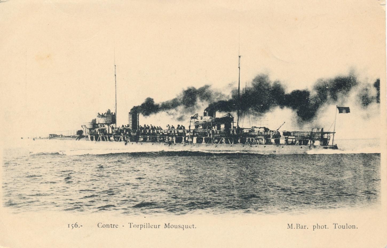 Le contre-torpilleur Mousquet. Carte postale. Collection particulière.