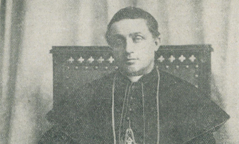 Portrait d'Alcime Gouraud publié en 1928, lors de sa mort, dans Le Nouvelliste du Morbihan. Wikicommons.