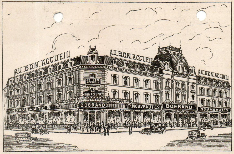 Carte postale promotionnelle diffusée par les magasins Bogrand, sans date. Collection particulière.