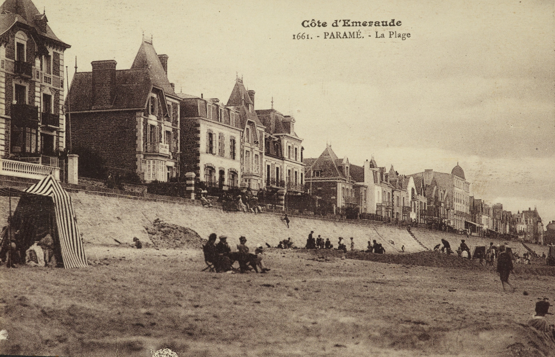 Paramé, la plage. Carte postale. Musée de Bretagne: 992.0077.921.2.
