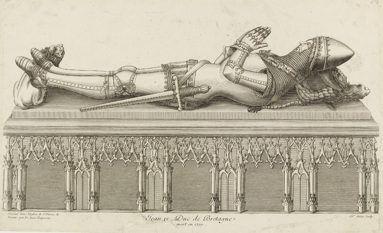 Jean IV, estampe de François-Jean Chaperon (XVIIIe siècle). Musée de Bretagne: 2016.0000.2473.