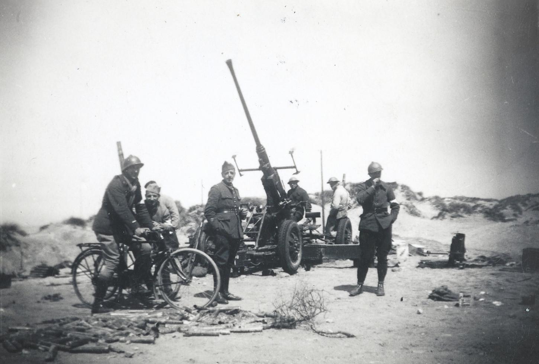 Pièce d'artillerie, 1940. Musée de Bretagne : 990.0112.63.