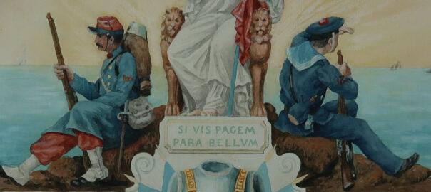 Oeuvre d'Auguste Nayel (détail). Archives Elisabeth Loir-Mongazon.