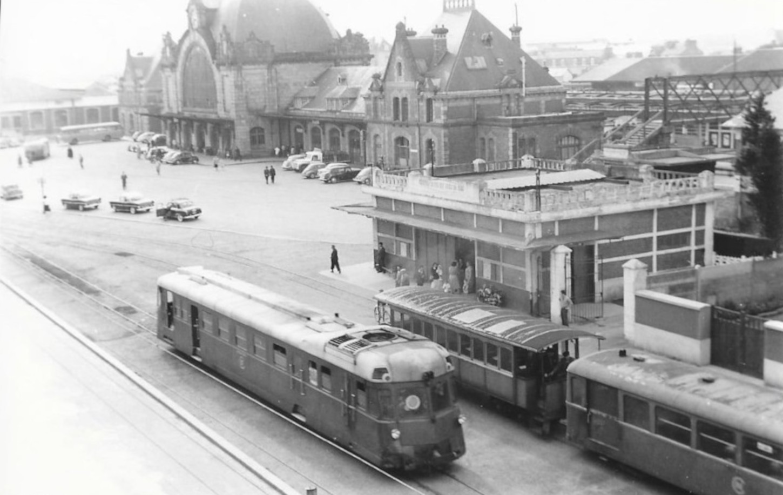 La gare de Saint-Brieuc, probablement au début des années 1950. Collection particulière.