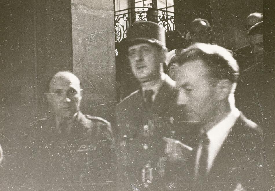 Charles de Gaulle en visite à Rennes, 27 juillet 1947. Cliché Félix Louis. Musée de Bretagne: 972.0004.91.
