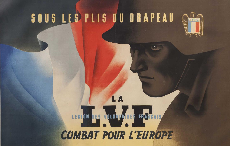 Affiche de la LVF. Hermann Historica.