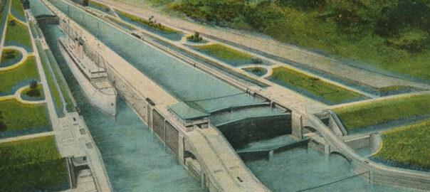 Carte postale du canal de Panama (détail). Collection particulière.