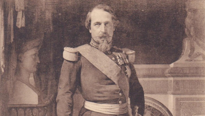 Portrait de Napoléon III (détail). Carte postale. Collection particulière.