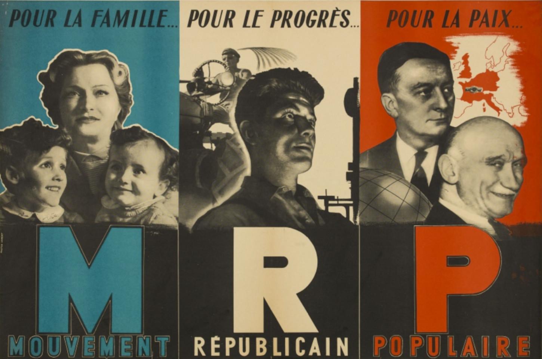 Affiche du Mouvement républicain populaire, sans date. Bibliothèque Historique de la Ville de Paris : 1-AFF-000515.
