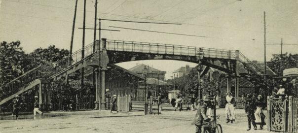 Près de la gare de Lorient, la passerelle du cours de Chazelles. Musée de Bretagne: 973.0033.534.