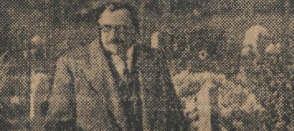 Portrait de Georges Rivollet publié le 1er novembre 1934 par Le Journal. Georges Rivollet, ministre des Pensions, visite un cimetière militaire.