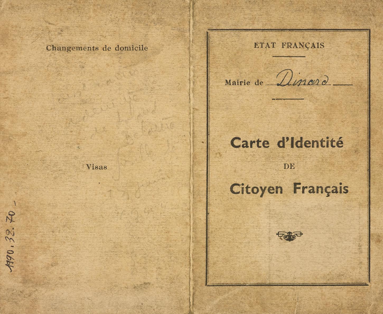 Carte d'identité (1943). Musée de Bretagne: 990.0032.70.