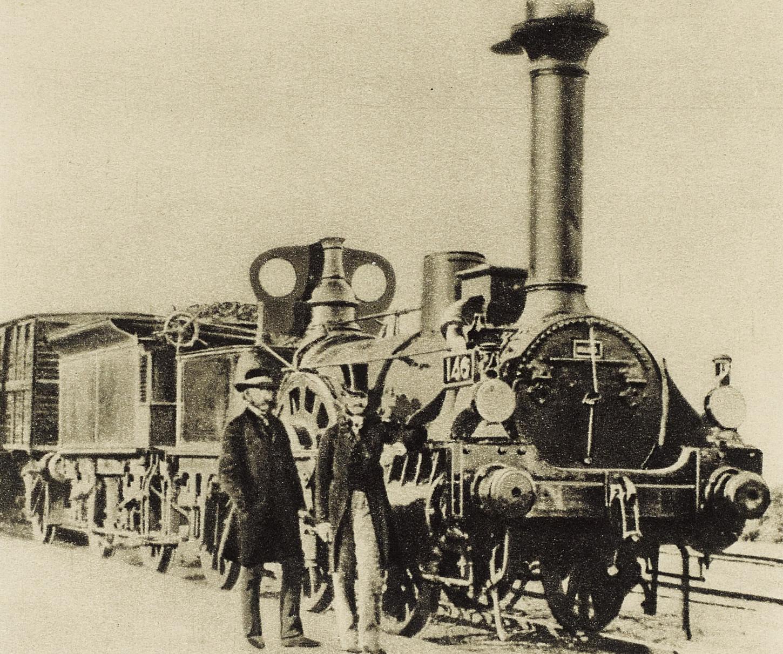 Locomotive de la ligne Paris-Orléans mise en service en 1840. Musée de Bretagne: 2018.0000.1820.