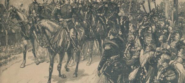 Couverture de ROUSSET, commandant Léonce, Histoire populaire de la guerre de 1870-1871, Paris, La Librairie illustrée, sans date (détail).