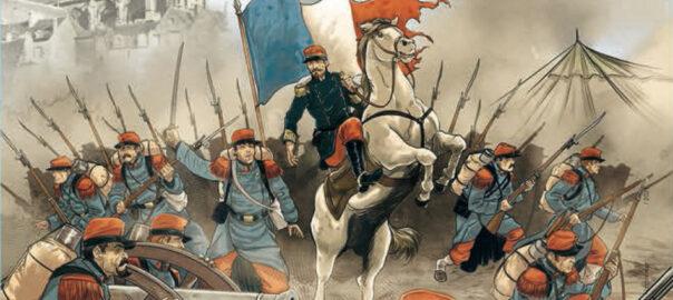 Visuel des commémorations « 1870-1871 Naissance de la République » (détail). Ville du Mans.
