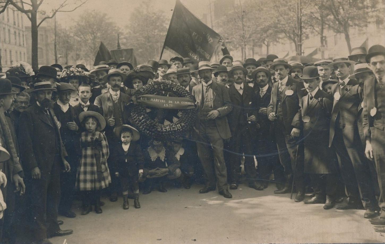 En souvenir des martyrs de la Commune de Paris, cérémonie organisée par la SFIO, sans date. Collection particulière.
