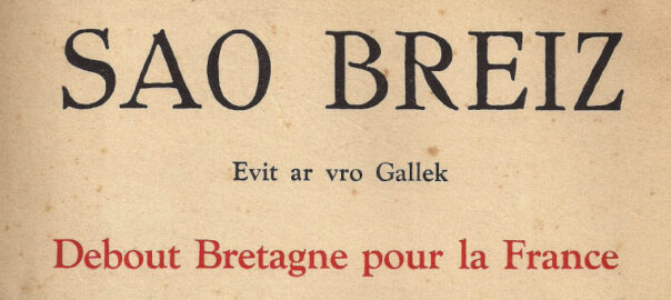 Couverture du troisième numéro de Sao Breiz (détail). Collection particulière.
