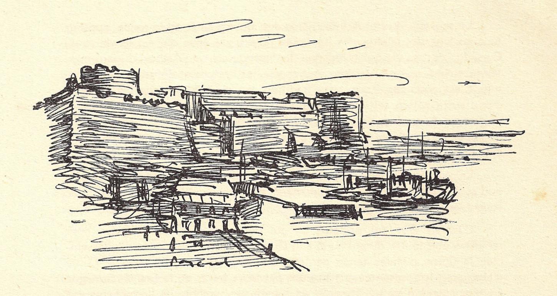Vue de « Saint-Malo, cité corsaire » publiée dans le troisième numéro de Sao Breiz.