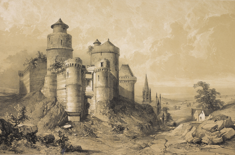 Le château de Fougères. Gravure d'Eugène Cicéri, vers 1845. Musée de Bretagne: 2017.0000.830.