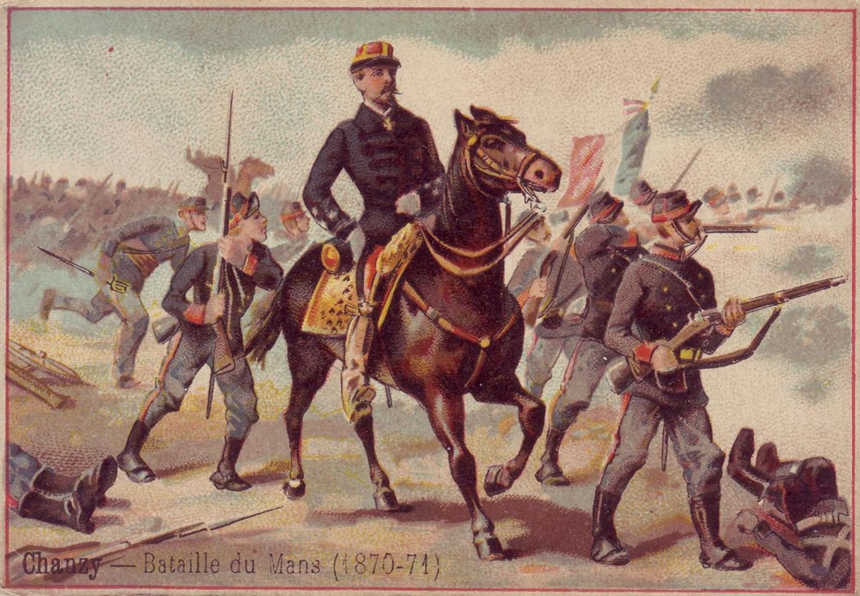 Image patriotique distribuée dans des paquets de friandises. Collection particulière.