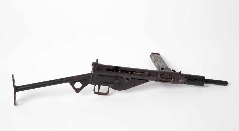 Mitraillette Sten, arme emblématique de la Résistance. Musée de Bretagne: 2009.0023.4.