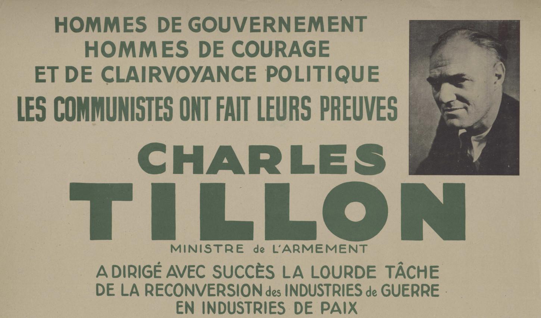 Affiche électorale (détail, 1946). La Contemporaine: AFF34513.