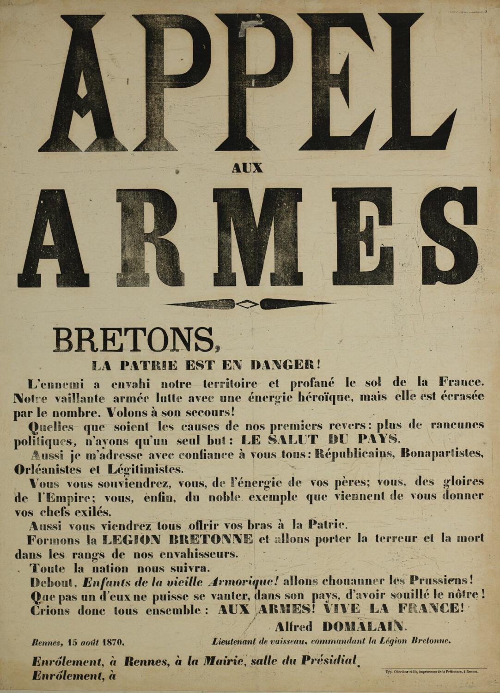 Affiche de l'imprimerie Oberthür & fils, Rennes. Musée de Bretagne : 910.0003.1.